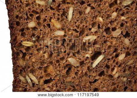 Black seeds bread texture