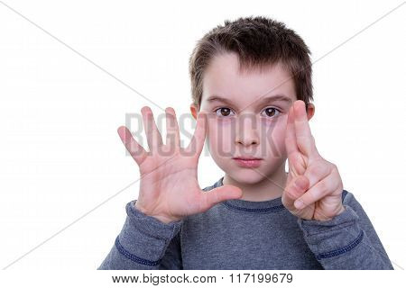 Child With Seven Fingers Up