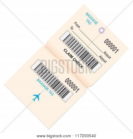 Baggage Tag For Air Travel