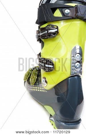 One Green-dark Ski Shoe