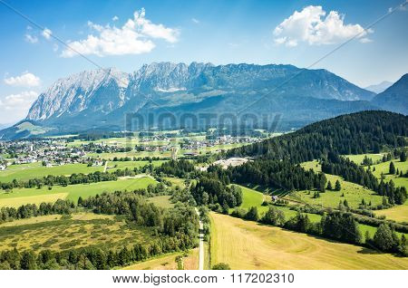 Aerial View On The City Alps