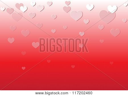 Falling Heart Red Background