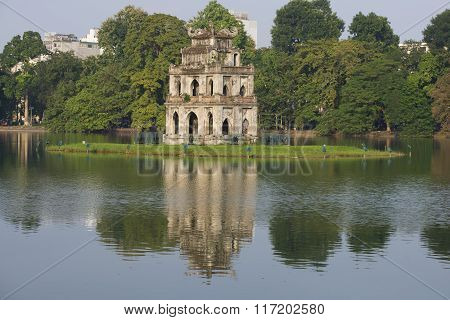Temple on the island. Hanoi, Vietnam