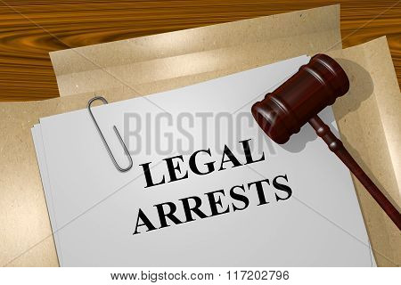 Legal Arrests Concept