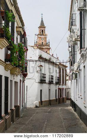 White Streets Of Carmona. Spain, Andalusia