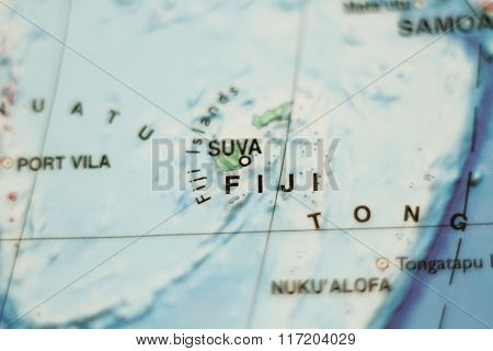 Fiji Country Map .