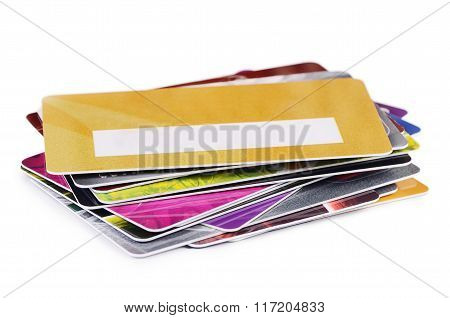 Plastic Card Isolated On White Background