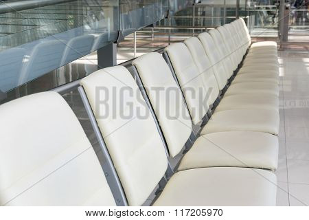 Empty chair for passengers