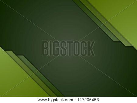 Dark green corporate material brochure design. Vector template background
