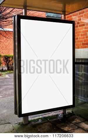 Blank Bus Stop Advertising Billboard