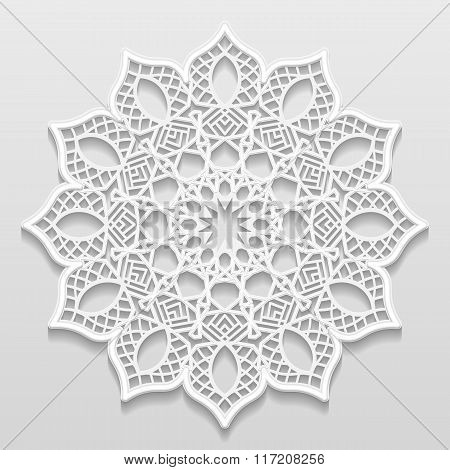 Vintage vector background festive pattern embossing alace paper card floral ornament indian ornament