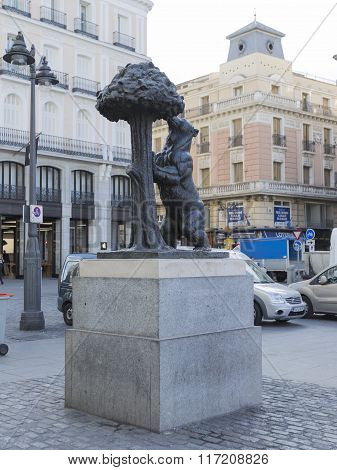 Symbol Of Madrid In Puerta