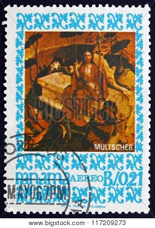 Postage Stamp Panama 1967 The Arisen Christ, By Multscher