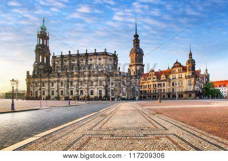 Dresden Square, Germany, Hofkirche