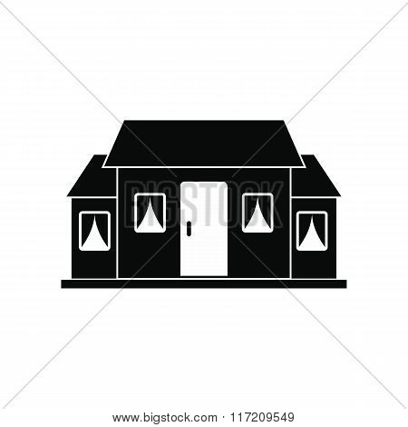 Small cottage black simple icon