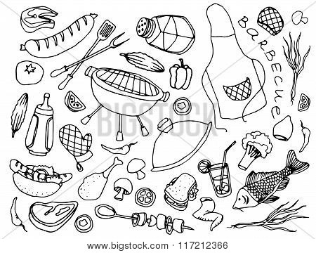 Doodle vector barbecue