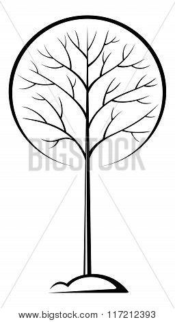 Tree Black Pictogram