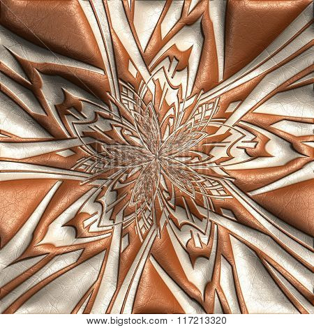 Background With Embossed Candy star