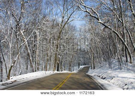 Estrada de Wisconsin de Inverno