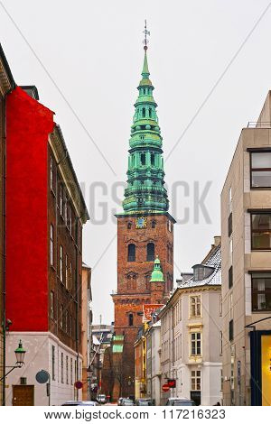 View To Former St Nicholas Church In Copenhagen In Winter