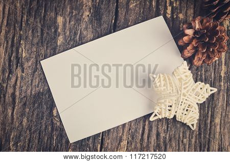 Blank White Paper Card