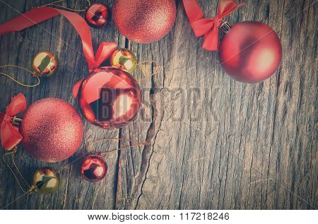 Red Ribbon And Christmas Balls