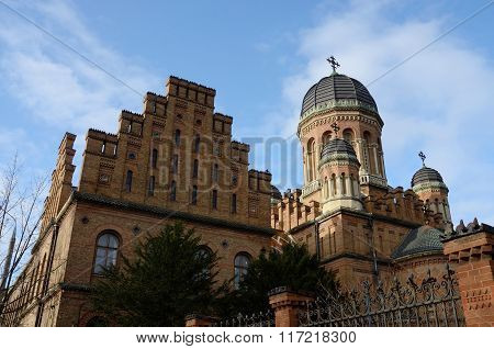 Seminary Church And Former Archiepiscopal Residence In Chernivtsi, Western Ukraine,europe,unesco