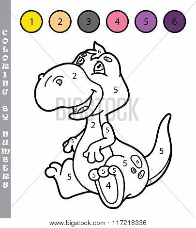 Coloring by numbers dino
