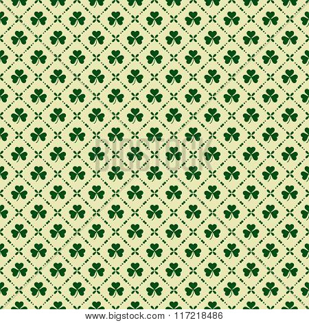 Green Clover Background For St. Patricks Day