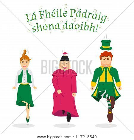 Coming soon saint Patrick's day - greetings in Irish