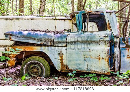 Rusty Blue Chevrolet Pickup