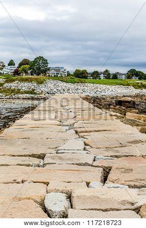 Stone Pier Toward House