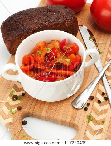 Lecho Is An Originally Thick Vegetable Stew.