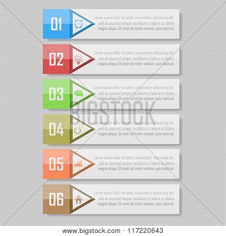 Infographic vector illustration. can be used for workflow layout, diagram, number optionsinfographic