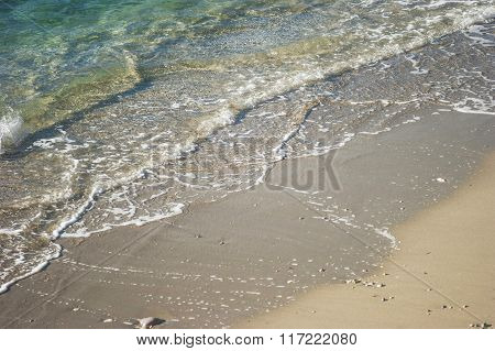 The sandy beach on the Sea