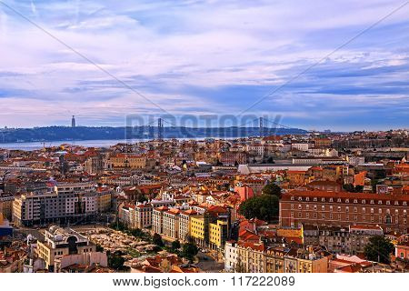 View Of Lisbon, Portugal.