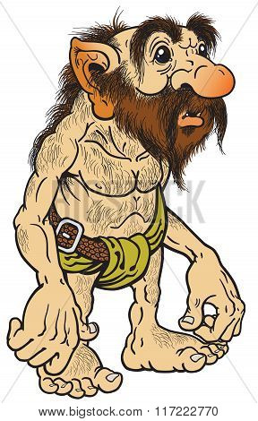 primitive old caveman