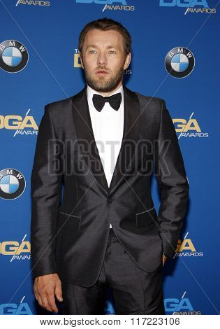Joel Edgerton at the 68th Annual Directors Guild Of America Awards held at the Hyatt Regency Century Plaza in Los Angeles, USA on February 6, 2016.