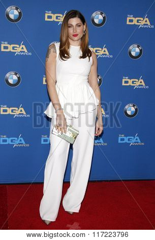 Trace Lysette at the 68th Annual Directors Guild Of America Awards held at the Hyatt Regency Century Plaza in Los Angeles, USA on February 6, 2016.