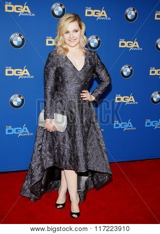 Abigail Breslin at the 68th Annual Directors Guild Of America Awards held at the Hyatt Regency Century Plaza in Los Angeles, USA on February 6, 2016.