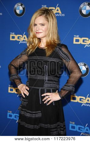 Jennifer Jason Leigh at the 68th Annual Directors Guild Of America Awards held at the Hyatt Regency Century Plaza in Los Angeles, USA on February 6, 2016.