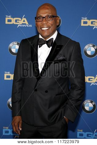Paris Barclay at the 68th Annual Directors Guild Of America Awards held at the Hyatt Regency Century Plaza in Los Angeles, USA on February 6, 2016.