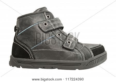 Black boots isolated