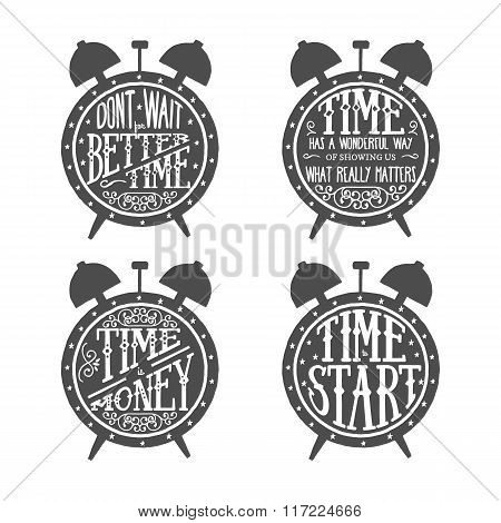 time quotes lettering