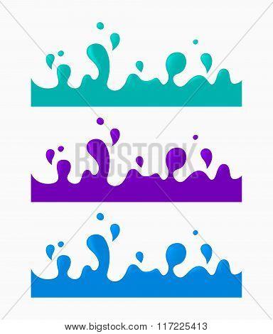 Color liquid splash set,