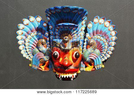 Peacock - Wooden Sri Lankan Traditional Mask