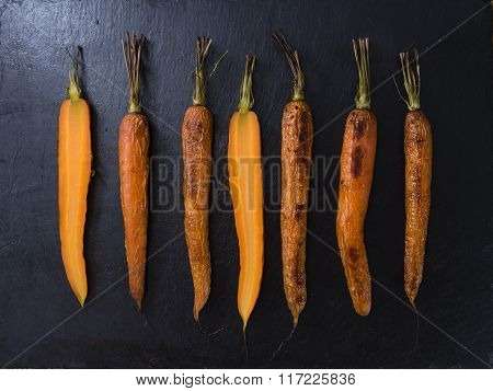 Some Baked Carrots (selective Focus)