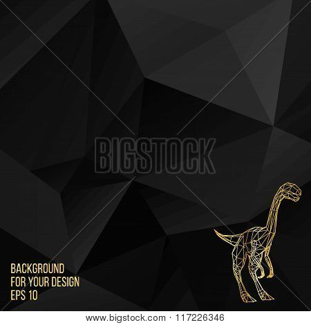 Abstract Creative concept vector background of the Dinosaur. Polygonal design style letterhead and b