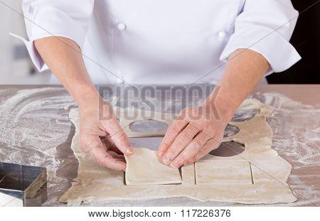 Baker Kneading Dough