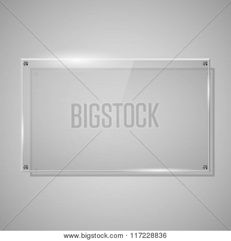 Glass Framework, Vector Illustration